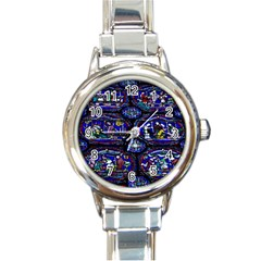 Church Window Canterbury Round Italian Charm Watch
