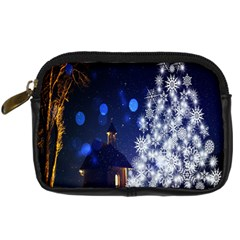 Christmas Card Christmas Atmosphere Digital Camera Leather Case by Wegoenart