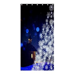 Christmas Card Christmas Atmosphere Shower Curtain 36  X 72  (stall)  by Wegoenart