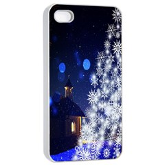 Christmas Card Christmas Atmosphere Apple Iphone 4/4s Seamless Case (white)