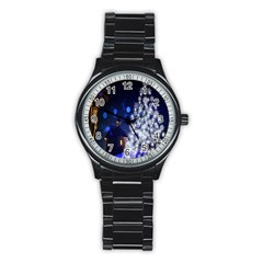 Christmas Card Christmas Atmosphere Stainless Steel Round Watch