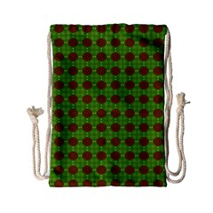 Christmas Paper Wrapping Patterns Drawstring Bag (small) by Wegoenart