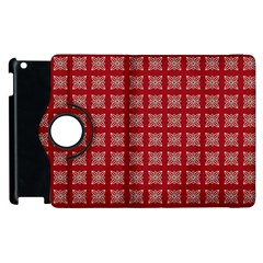 Christmas Paper Pattern Apple Ipad 2 Flip 360 Case by Wegoenart
