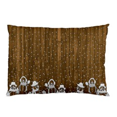 Christmas Snowmen Rustic Snow Pillow Case (two Sides)