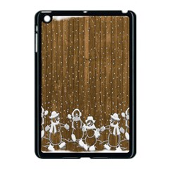 Christmas Snowmen Rustic Snow Apple Ipad Mini Case (black) by Wegoenart