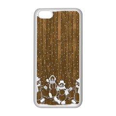 Christmas Snowmen Rustic Snow Apple Iphone 5c Seamless Case (white)