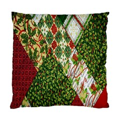 Christmas Quilt Background Standard Cushion Case (two Sides)