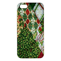 Christmas Quilt Background Apple Iphone 5 Premium Hardshell Case