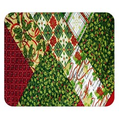 Christmas Quilt Background Double Sided Flano Blanket (small)  by Wegoenart
