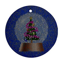 Christmas  Snow Round Ornament (two Sides) by Wegoenart