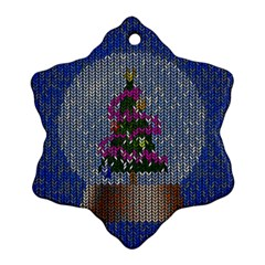 Christmas  Snow Snowflake Ornament (two Sides)
