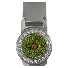 Christmas Kaleidoscope Pattern Money Clips (cz)  by Wegoenart