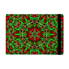 Christmas Kaleidoscope Pattern Apple Ipad Mini Flip Case by Wegoenart