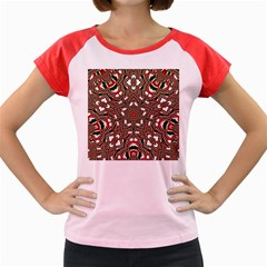 Christmas Kaleidoscope Women s Cap Sleeve T-shirt by Wegoenart