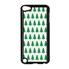 Christmas Background Christmas Tree Apple Ipod Touch 5 Case (black)