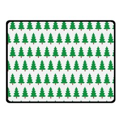 Christmas Background Christmas Tree Double Sided Fleece Blanket (small)