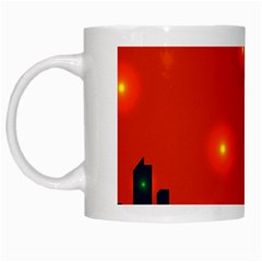 City Light Night Lights Evening White Mugs