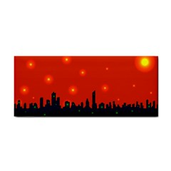 City Light Night Lights Evening Hand Towel