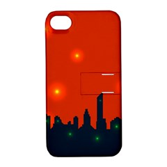City Light Night Lights Evening Apple Iphone 4/4s Hardshell Case With Stand