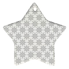 Ornamental Decorative Floral Star Ornament (two Sides)