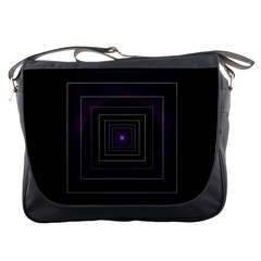 Fractal Square Modern Purple Messenger Bag