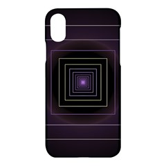 Fractal Square Modern Purple Apple Iphone Xs Hardshell Case