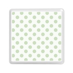 Green Dots Modern Pattern Paper Memory Card Reader (square)