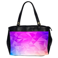 Low Poly Triangle Pattern Oversize Office Handbag (2 Sides)