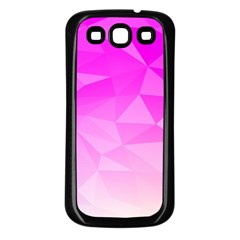 Low Poly Triangle Pattern Samsung Galaxy S3 Back Case (black)