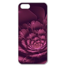 Fractal Blossom Flower Bloom Apple Seamless Iphone 5 Case (clear)