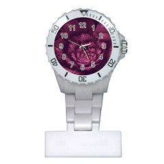 Fractal Blossom Flower Bloom Plastic Nurses Watch
