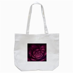 Fractal Blossom Flower Bloom Tote Bag (white) by Wegoenart