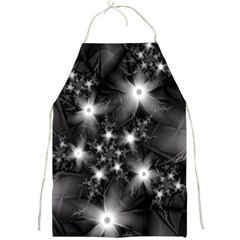 Black And White Floral Fractal Full Print Aprons