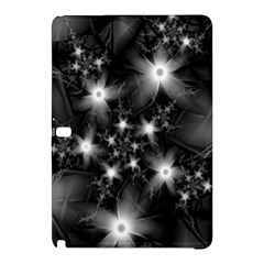 Black And White Floral Fractal Samsung Galaxy Tab Pro 12 2 Hardshell Case