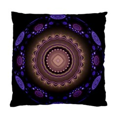 Fractal Neon Blue Energy Fantasy Standard Cushion Case (two Sides)