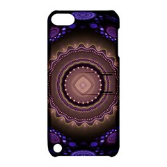 Fractal Neon Blue Energy Fantasy Apple Ipod Touch 5 Hardshell Case With Stand