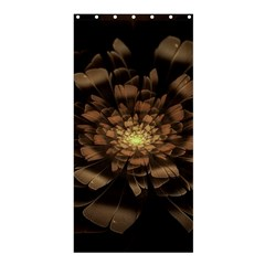 Fractal Flower Floral Bloom Brown Shower Curtain 36  X 72  (stall)