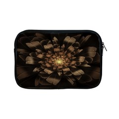 Fractal Flower Floral Bloom Brown Apple Ipad Mini Zipper Cases