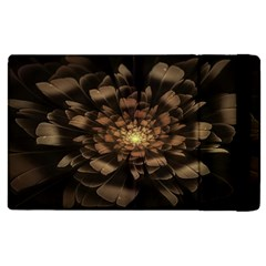 Fractal Flower Floral Bloom Brown Apple Ipad Pro 9 7   Flip Case