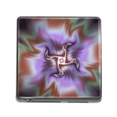 Fractal Rainbow Colorful Pattern Memory Card Reader (square 5 Slot)
