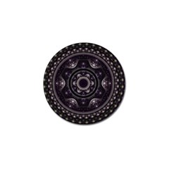 Fractal Mandala Circles Purple Golf Ball Marker (10 Pack)