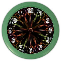 Fractal Colorful Pattern Texture Color Wall Clock by Wegoenart