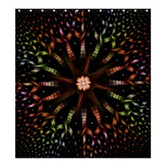 Fractal Colorful Pattern Texture Shower Curtain 66  X 72  (large)