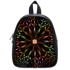 Fractal Colorful Pattern Texture School Bag (small)