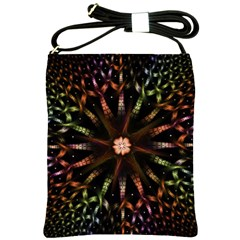 Fractal Colorful Pattern Texture Shoulder Sling Bag