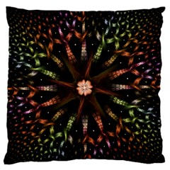 Fractal Colorful Pattern Texture Large Flano Cushion Case (two Sides)