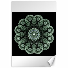 Fractal Green Lace Pattern Circle Canvas 20  X 30