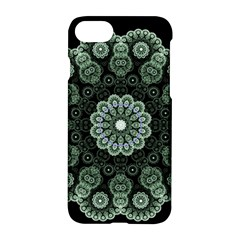 Fractal Green Lace Pattern Circle Apple Iphone 7 Hardshell Case