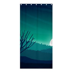 Landscape Wallpaper Background Shower Curtain 36  X 72  (stall)