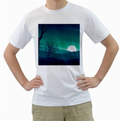 Landscape Wallpaper Background Men s T Shirt (white)